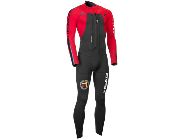 Head ÖTILLÖ Swimrun Rough Traje Protector Hombre, black/red